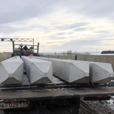 Строительство эстакады под трубопроводы